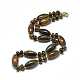 Natural Tiger Eye Beaded Necklaces(NJEW-S388-13)-1