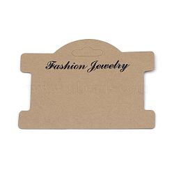 Cartes d'affichage en carton, utilisé pour le collier, chameau, 75x96x0.5mm(X-CDIS-S025-03B)