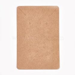 Cartes d'affichage en carton, utilisé pour collier et boucle d'oreille, burlywood, 9x6 cm(CDIS-WH0005-04B)