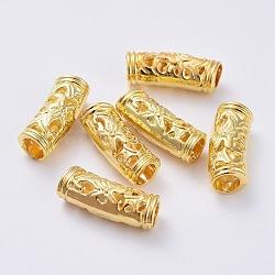 perles de tubes en alliage, or, 19x6 mm, trou: 4 mm(PALLOY-F133-17G)