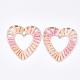 Handmade Raffia Woven Linking Rings/Pendants(WOVE-S120-04F)-1