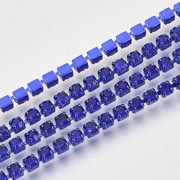 Blue Brass+Rhinestone Rhinestone Chains Chain