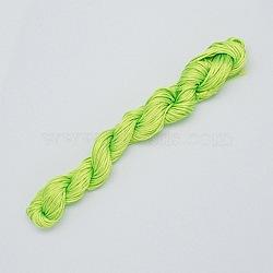 10M fil de bijoux en nylon, corde de nylon pour les bracelets personnalisés tissés faisant, greenyellow, 2mm