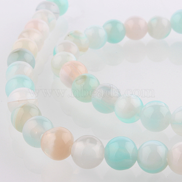 6mm SkyBlue Round Natural Agate Beads
