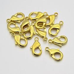 Fermoirs mousquetons en laiton, or, 10x5x2.5mm, Trou: 1mm(KK-J202-05G)