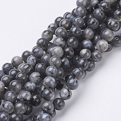Natural Labradorite Beads Strand, Round, about 6mm, Hole: 0.8mm; about 63pcs/strand, 15.5inches(X-GSR6mmC128)