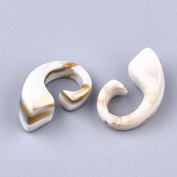 Acrylic Beads, Imitation Gemstone Style, No Hole/Undrilled, Linen, 28.5x17x13mm(X-OACR-S021-11H)