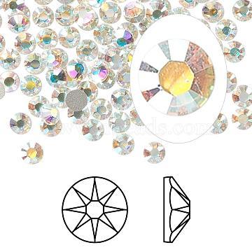 Austrian Crystal Rhinestone, 2088, Crystal Passions, Foil Back, Xirius Rose, 101_Crystal+AB, 10.912~11.304mm(2088-SS48-101(F))