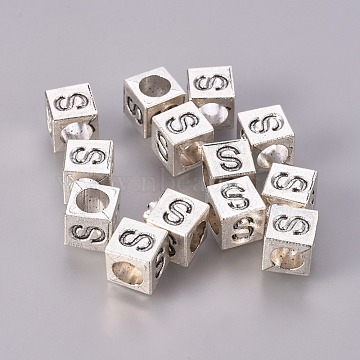7mm Cube Alloy Beads