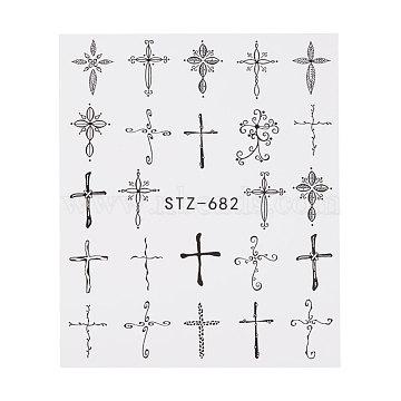 наклейки для ногтей, самоклеящийся, для украшения ногтей, черный, 6.3x5.2 cm(X-MRMJ-Q042-C32)