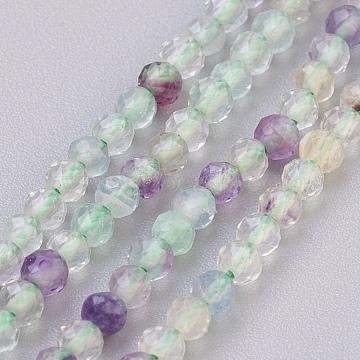 3mm Round Fluorite Beads