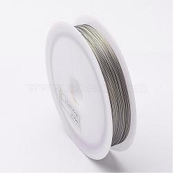 Accessoires de fil de bricolage bijoux avec couleur fil de queue de tigre, acier inoxydable revêtu de nylon, darkgray, 0.45 mm; 50 m / rouleau(X-TWIR-O001-0.45mm-03)