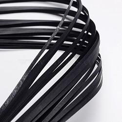 Bandes de papier quilling, noir, 390x3mm; à propos 120strips / sac(X-DIY-J001-3mm-B35)