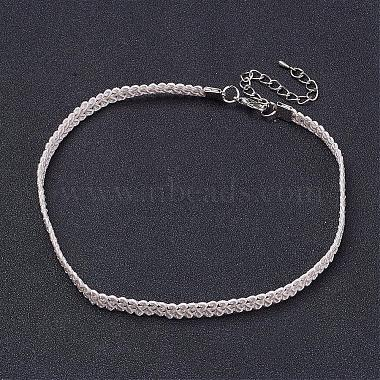 White Cloth Necklaces