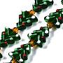 Green Tree Lampwork Beads(LAMP-N021-026)