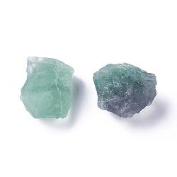Perles brutes de fluorite naturelles brutes, perles non percées / sans trou, nuggets, 42~53x39~42x24~26 mm; environ 2 PCs / sac, 100 g / sac(G-WH0003-04)