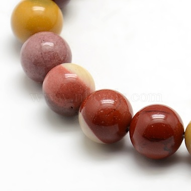 Round Natural Mookaite Beads Strands(G-P062-65)-3