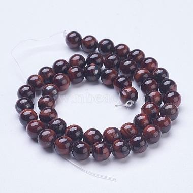 Natural Red Tiger Eye Beads Strands(G-D855-04-8mm)-2