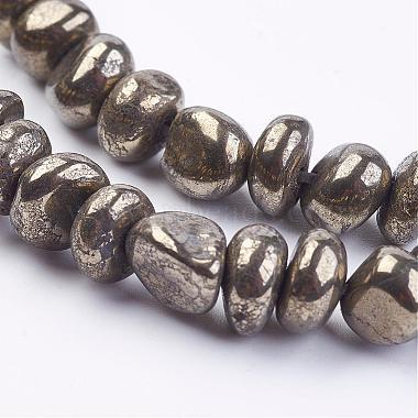 Natural Pyrite Bead Strands(G-G673-04)-3