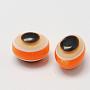 Dark Orange Oval Resin Beads(RESI-R160-6x8-04)
