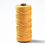 Cotton String Threads, Macrame Cord, Decorative String Threads, for DIY Crafts, Gift Wrapping and Jewelry Making, Gold, 3mm, about 109.36 yards(100m)/roll