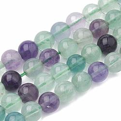 """Chapelets de perles en fluorite naturel, rond, 6~7mm, trou: 1mm; environ 60~67 pcs/chapelet, 15.7""""(X-G-S333-6mm-006)"""
