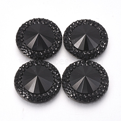 Cabochons en résine, facette, cône, noir, 20x5mm(CRES-R190-20mm-02)