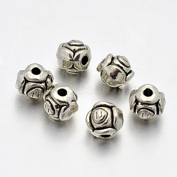 Antique Silver Flower Alloy Spacer Beads