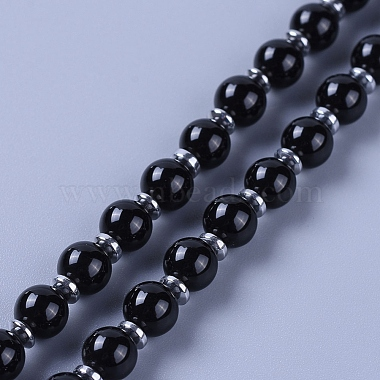Natural Obsidian Pendant Necklace(NJEW-I109-C01)-4