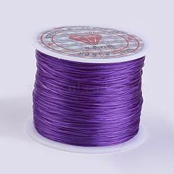 Chaîne de cristal élastique plat, fil de perles élastique, pour la fabrication de bracelets élastiques, blueviolet, 0.5 mm; environ 45 m/rouleau(X-EW-P002-0.5mm-A13)