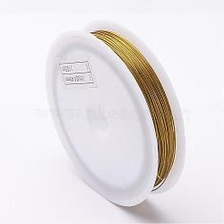 DIY Jewelry Thread Findings Colored Tiger Tail Wire, Nylon-coated Stainless Steel, Goldenrod, 0.45mm; 50m/roll(X-TWIR-O001-0.45mm-04)