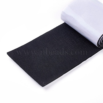 Cuttable Felt Mat, with Adhesive Tape, For Furniture Mat, Black, 10x0.4cm; about 1m/roll(DIY-WH0134-E02)