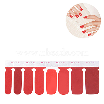 Full Cover Nail Stickers, Self-adhesive, For Nail Tips Decorations, Colorful, 10.9x3.9cm(MRMJ-T039-01R)