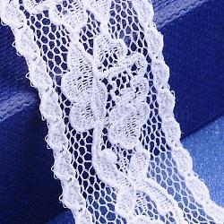 """Fil de nylon de garniture de dentelle pour la fabrication de bijoux, blanc, 7/8"""" (22 mm)(X-OCOR-I001-038)"""