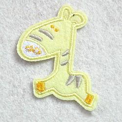 fer à repasser informatisé / coudre des patchs, accessoires de costumes, appliques, ane, jaune, 62x50 mm(DIY-O003-24A)
