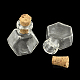 Hexagon Glass Bottle for Bead Containers(X-AJEW-R045-03)-1