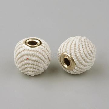14mm Cornsilk Rondelle Cloth Beads
