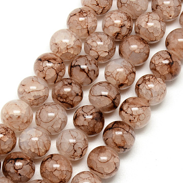 6mm Camel Round Glass Beads