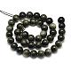 Natural Golden Sheen Obsidian Beads Strands(X-G-S150-20-8mm)-2