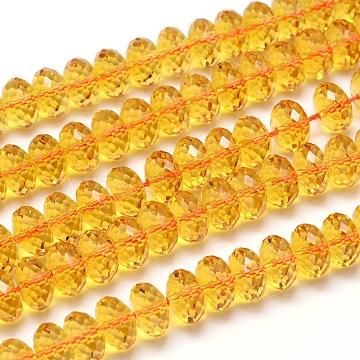 12mm Goldenrod Rondelle Citrine Beads