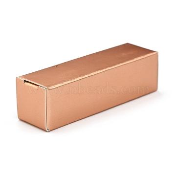 Foldable Kraft Paper Box, for Lipstick Packaging, Rectangle, Peru, 13.5x4x0.15cm(CON-K008-C-07)