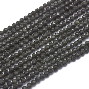 2mm Round Obsidian Beads