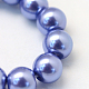 Baking Painted Pearlized Glass Pearl Round Bead Strands(X-HY-Q003-4mm-09)-3
