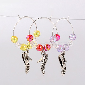 Mixed Color Acrylic Wine Glass Charms