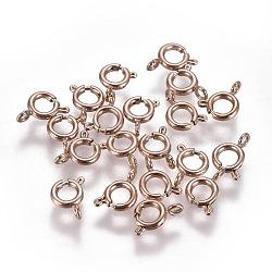 304 пружинные кольца из нержавеющей стали, розовое золото, 5x1.5 mm, отверстия: 1.5 mm(STAS-F224-02RG-A)