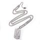 304 Stainless Steel Split Initial Pendant Necklaces(NJEW-L152-03V)-1