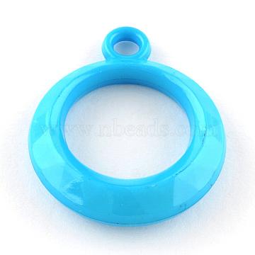 31mm DodgerBlue Ring Acrylic Pendants