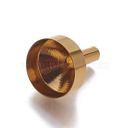 trémie d'entonnoir en aluminium, or, 23x18 mm, trou: 3~17 mm(AJEW-WH0096-08A)