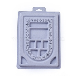 Пластиковые бисера доски дизайна, прямоугольник, светло-серый, 23x15.6x1.3 cm(X-ODIS-L003-05)