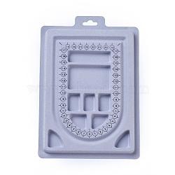 Plastic Bead Design Boards, Rectangle, LightGrey, 23x15.6x1.3cm(X-ODIS-L003-05)